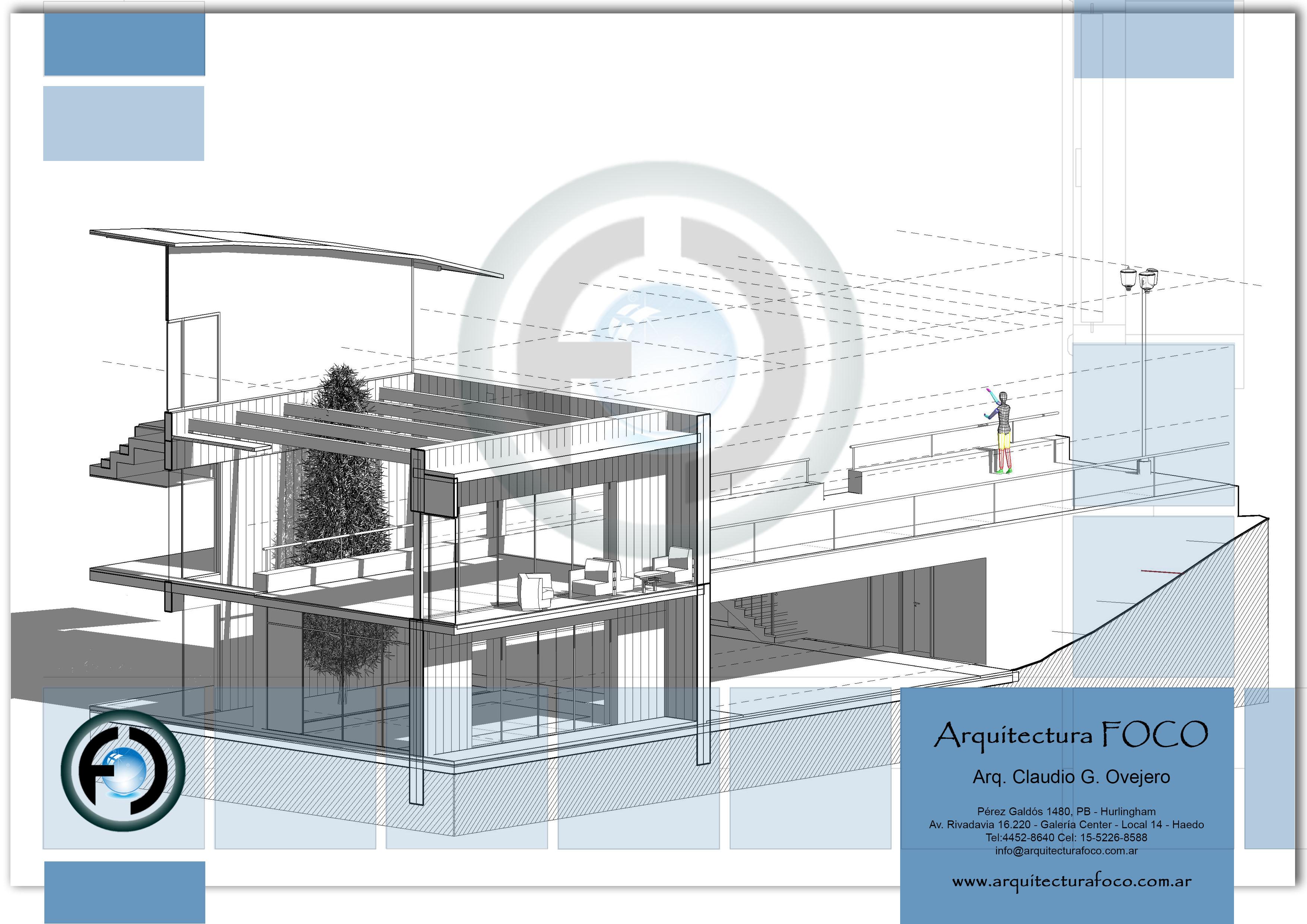 Croquis, anteproyecto, Proyecto en zona oeste. Buenos Aires.