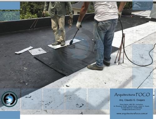 Belgrano, CABA. Impermeabilización con membrana geotextil