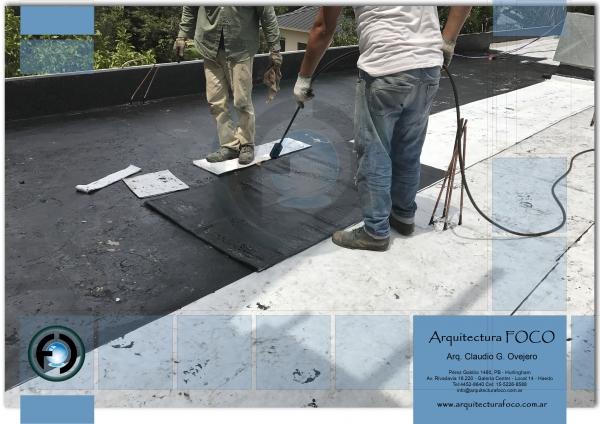 Colocación de membrana geotextil en Belgrano, CABA