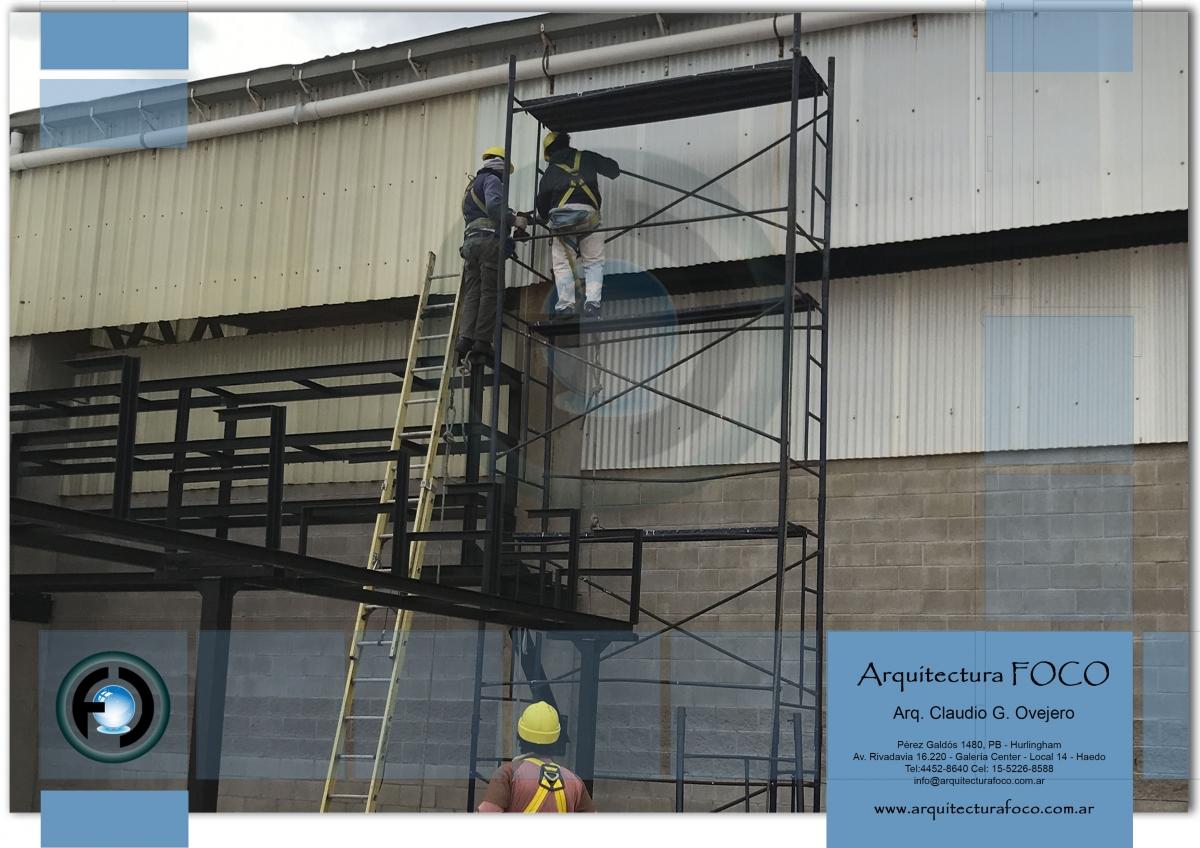 Mantenimiento de techos en empresa de parque industrial Pilar, Buenos Aires. Argentina