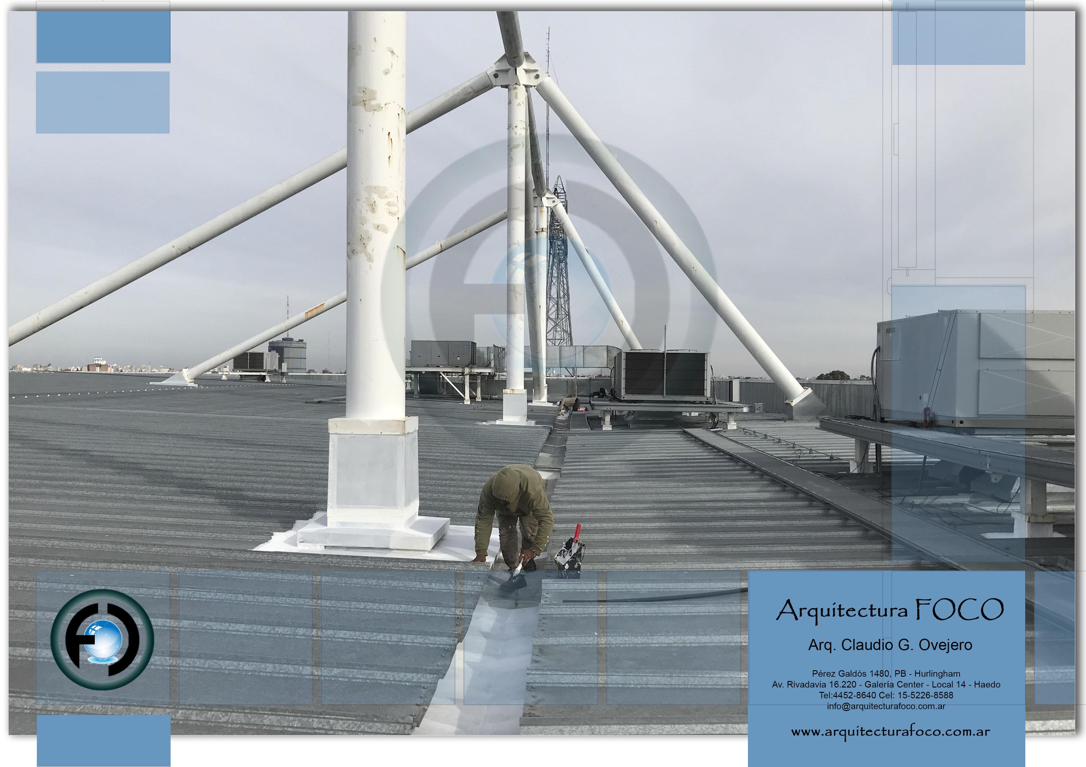 Mantenimiento de techos, trabajos por filtraciones de techos, sellados de canaletas, pintura en canaletas en Buenos Aires.