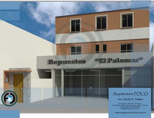 Palomar, Buenos Aires. Proyecto/croquis de frente de local comercial