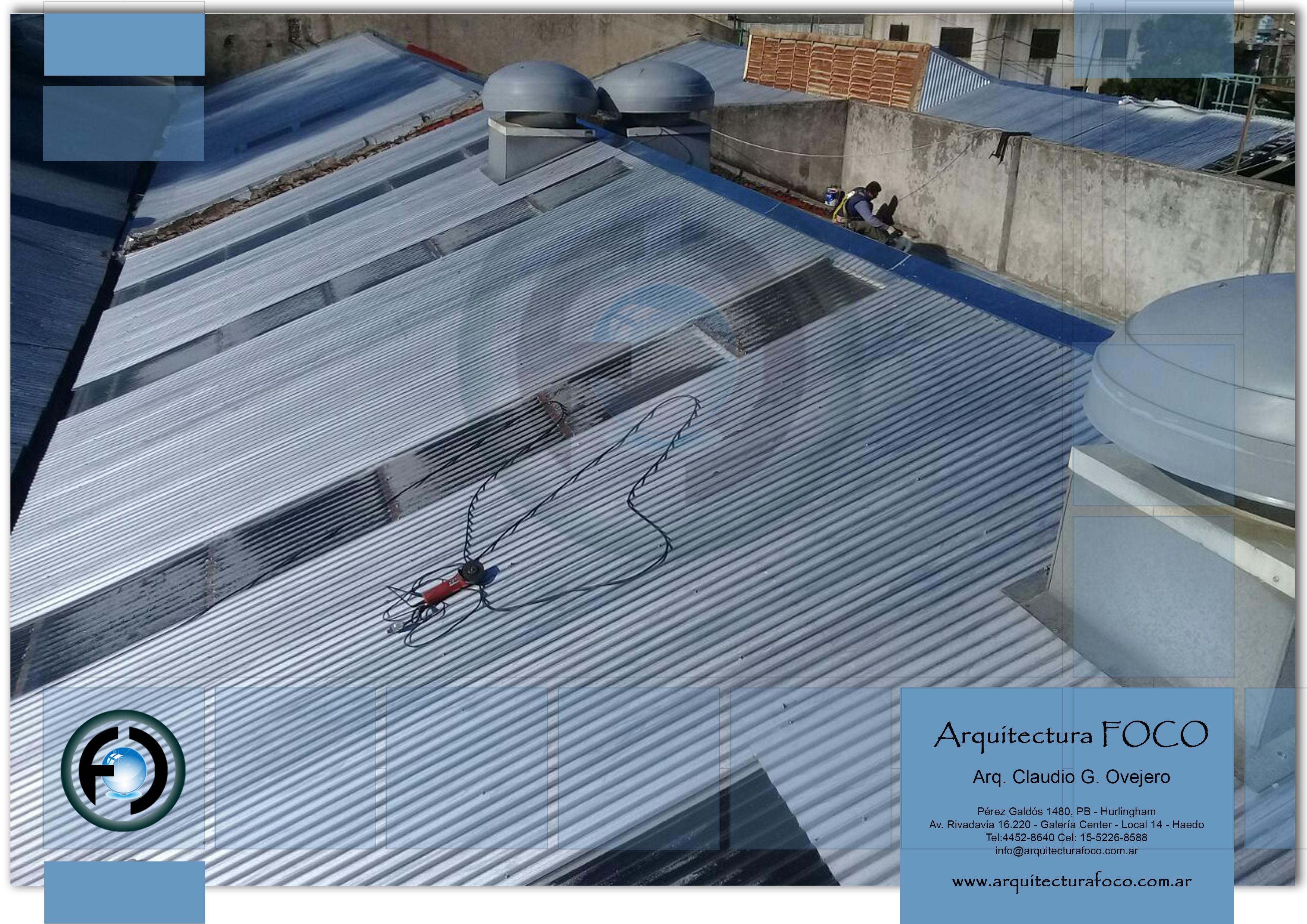 Trabajos de grandes techos de chapa en zona oeste, zona sur, zona norte y CABA