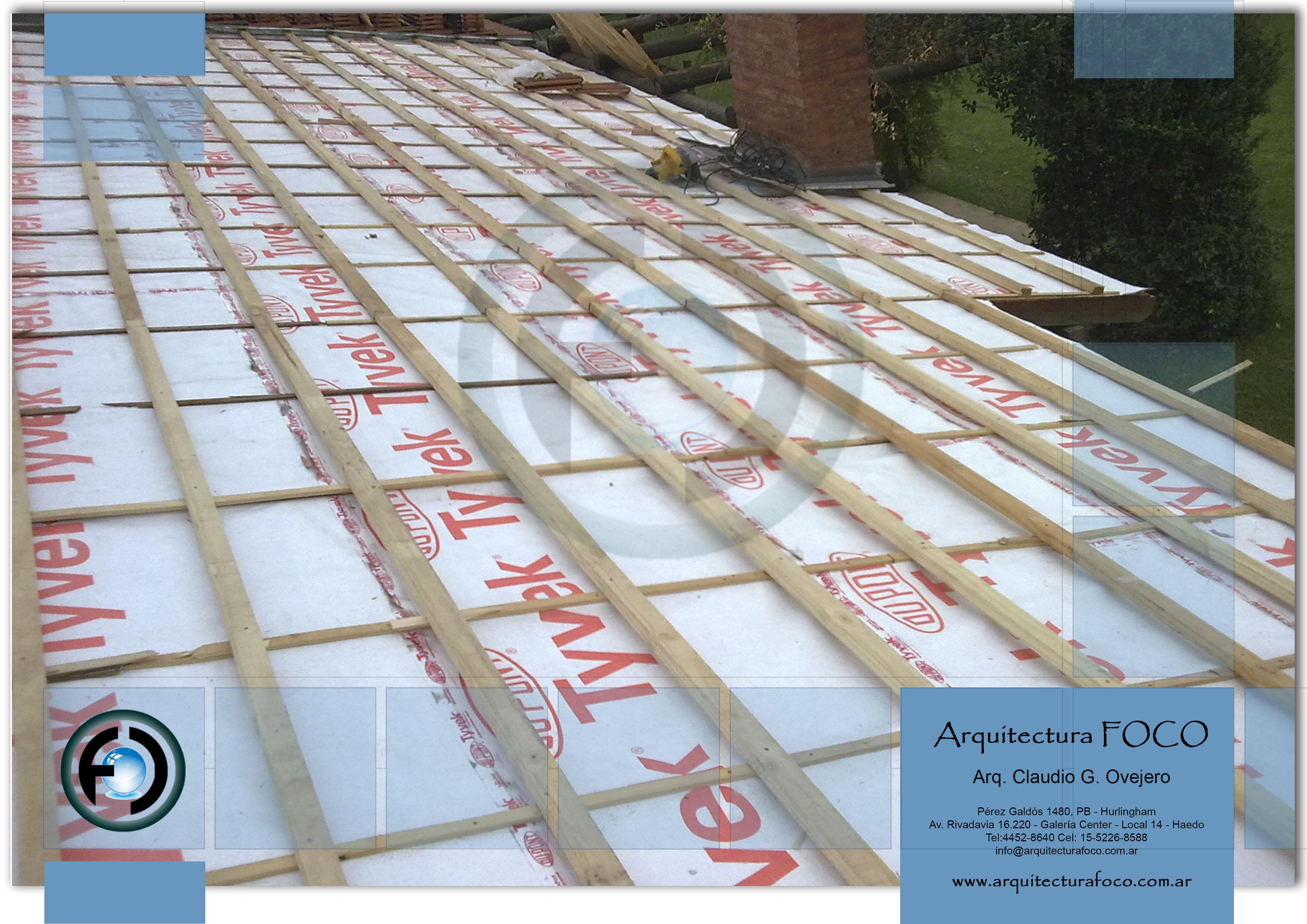 Muñiz, Buenos Aires. Reemplazo de ruberoy por aislante hidrofugo Tivek