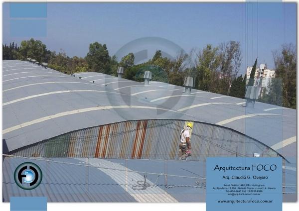 Pilar, Buenos Aires. Restauración de techos de chapa. Mantenimiento de techos en galpones